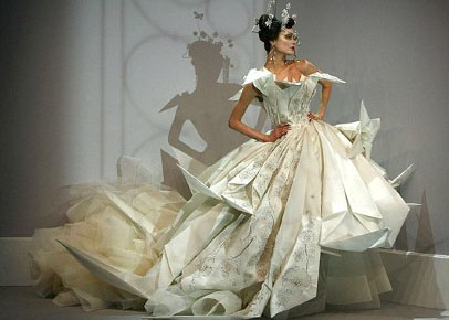 A John Galliano for Dior Couture Wedding Gown