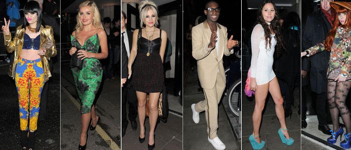 Brits After Parties - Jessie J, Katharine Jenkins, Pixie Lott, Tinie Tempah, Eliza Doolittle, Paloma Faiith