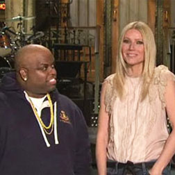 Cee Lo Green and Gwyneth Paltrow together on SLN