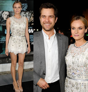 Diane Kruger's long legs and arm candy, Joshua Jackson