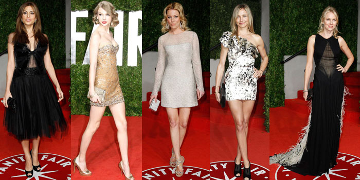 Eva Mendes, Taylor Swift, Elizabeth Banks, Cameron Diaz and Naomi Watts