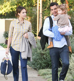 Jessica Alba with Cash and Honor