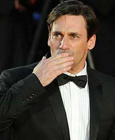John Hamm aiming a kiss at me on the Red Carpet