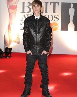 Justin Bieber at the 2011 Brit Awards