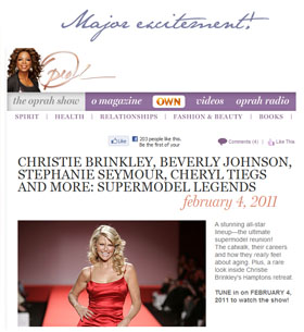 Oprah's Supermodel Legends Show