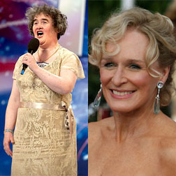 Susan Boyle and Glenn Close