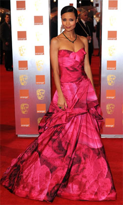 Thandie Newton in Monique Lhuillier at the 2011 BAFTA Awards