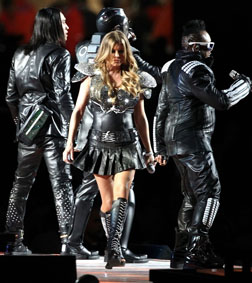 The Black Eyed Peas during their performance at Half Time