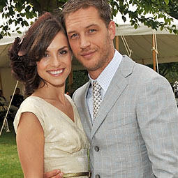 Tom Hardy and his fiancee, British actress Charlotte Riley