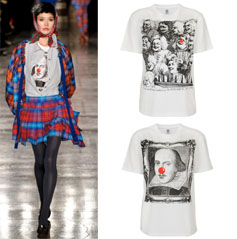 Vivienne Westwood model wearing the Comic Relief T-Shirts