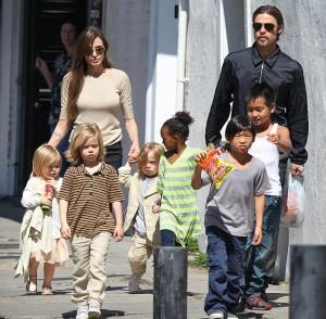 Angelina Jolie and Brad Pitt out with Vivienne, Shiloh, Knox, Zahara, Pax and Maddox