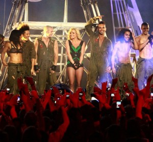 Britney's performance on Jimmy Kimmel
