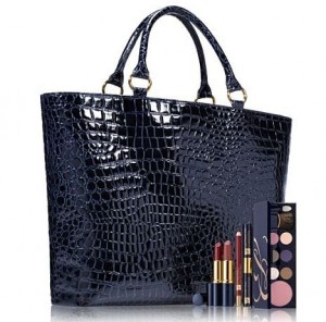 Estee Lauder Navy Mock Croc Bag Spring Event