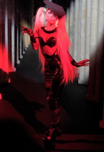 Lady Gaga walking the runway for Thierry Mugler