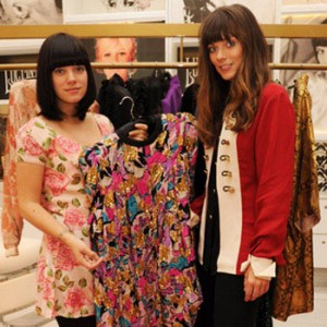 Lily Allen and Sarah Owen in Lucy in Disguise store