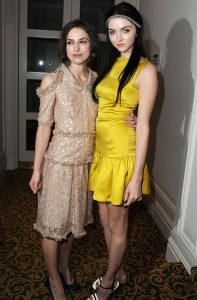 Lily Cole with Keira Knightley