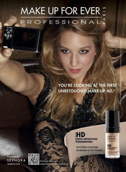 <b>Un-Retouched Makeup ...</b>