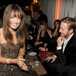 Olivia Wilde and Ryan Gosling at this year's Golden Globes
