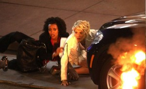 Rachael Taylor and Annie Ilonzeh on set