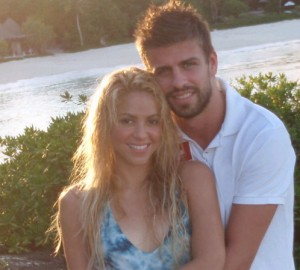 Shakira and Spanish soccer star, Gerard Pique