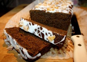 Sticky Ginger Cake with Lemon Drizzle