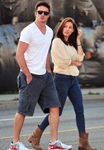 Thom Evans and Kelly Brook in LA