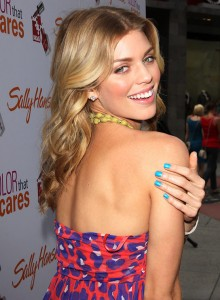 AnneLynne McCord with her bright nails