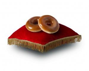 Krispy Kreme Gold Ring Doughnut