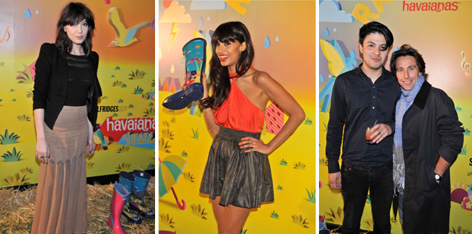 Daisy Lowe, Jameela Jamil and Jamie Woon and Eno Polo at the Selfridges event last night