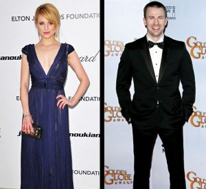 Dianne Agron and Chris Evans