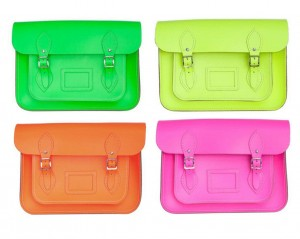 Fluro colours from the Cambridge Satchel Company