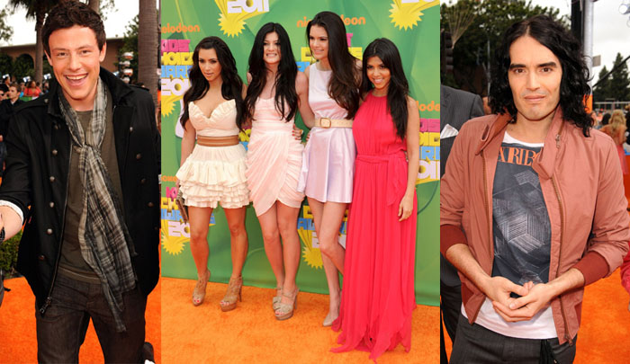 Kids Choice Awards Red Carpet - Cory Monteith, The Kardashians and Russell Brand