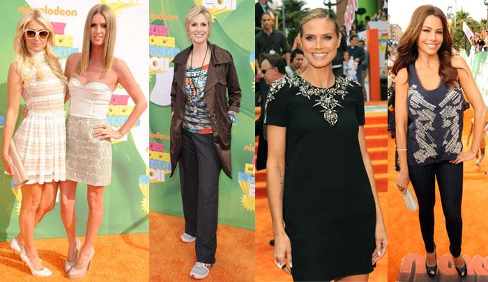 Kids Choice Awards Red Carpet - Nicky and Paris Hilton, Jane Lynch, Heidi Klum and Sofia Vergara