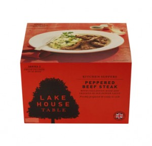 Peppered beef steak with colcannon and a black pepper sauce,