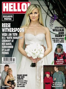 Reese Witherspoon's wedding in Hello