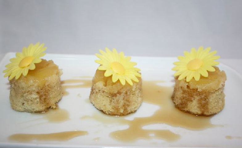 Rum Soaked Up-side Down Pineapple Cakes