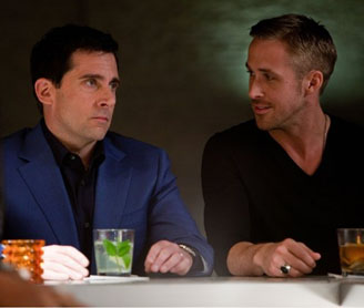 Steve Carrell and Ryan Gosling in Crazy, Stupid, Love