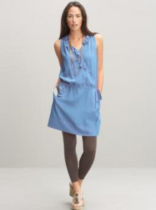 Blue Tie Waist dress from Banana Republic