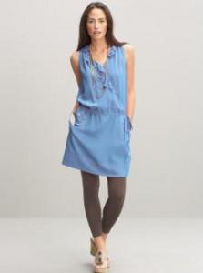 Blue Tie Waist dress from Banana Republic