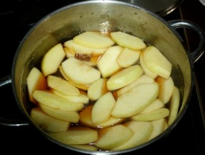 Cook the apples on a low heat