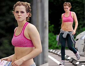Emma Watson out and about looking svelt