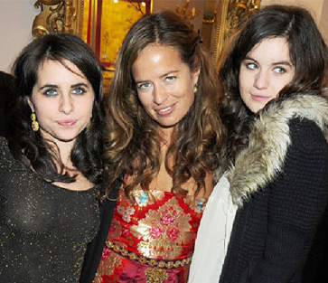 Jade Jagger and her daughters
