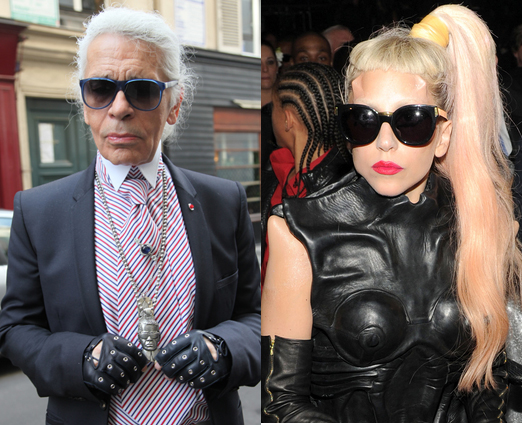 <b>Gaga and Lagerfeld f...</b>