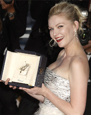 Kirtsen Dunst winning Best Actress