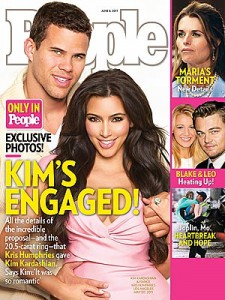 Kris Humphries and Kim Kardashian cover People magazine