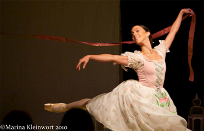 Laura Morera performing at Hatch House 2010 by kind permission of the Royal Ballet