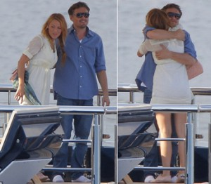Leo and Blake show some PDA on a yacht in Cannes