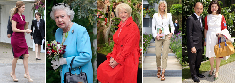 Princess Beatrice, The Queen, Helen Mirren, Gwyneth Paltrow and Jimmy Choo and Miriam Gonzalez Durantez