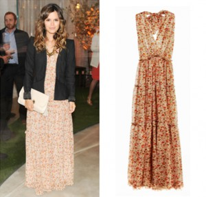 Rachel Bilson wearing the Derek Lam for eBay floral maxi dress