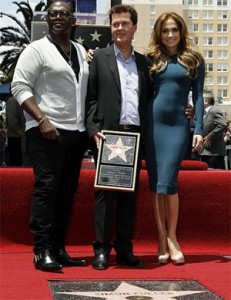 Randy Jackson, Simon Fuller and J-Lo